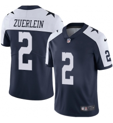 Nike Dallas Cowboys 2 Greg Zuerlein Navy Blue Thanksgiving Men Stitched NFL Vapor Untouchable Limited Throwback Jersey