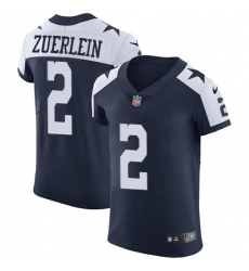 Nike Dallas Cowboys 2 Greg Zuerlein Navy Blue Thanksgiving Men Stitched NFL Vapor Untouchable Throwback Elite Jersey