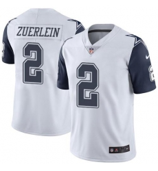 Nike Dallas Cowboys 2 Greg Zuerlein White Men Stitched NFL Limited Rush Jersey