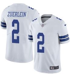 Nike Dallas Cowboys 2 Greg Zuerlein White Men Stitched NFL Vapor Untouchable Limited Jersey