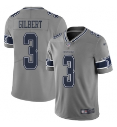 Nike Dallas Cowboys 3 Garrett Gilbert Gray Men Stitched NFL Limited Inverted Legend Jersey