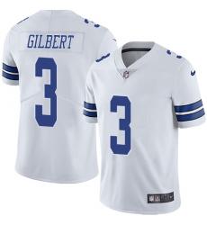 Nike Dallas Cowboys 3 Garrett Gilbert White Men Stitched NFL Vapor Untouchable Limited Jersey