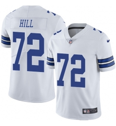 Nike Dallas Cowboys 72 Trysten Hill White Men Stitched NFL Vapor Untouchable Limited Jersey