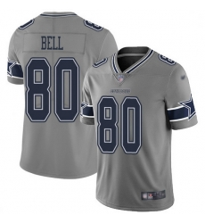 Nike Dallas Cowboys 80 Blake Bell Gray Men Stitched NFL Limited Inverted Legend Jersey