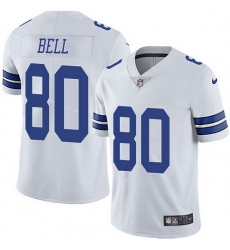 Nike Dallas Cowboys 80 Blake Bell White Men Stitched NFL Vapor Untouchable Limited Jersey