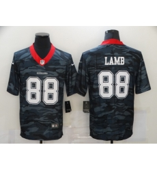 Nike Dallas Cowboys 88 CeeDee Lamb Black Camo USA Flag Limited Jersey