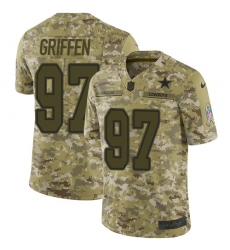 Nike Dallas Cowboys 97 Everson Griffen Camo Men Stitched NFL Limited 2018 Salute To Service Jersey