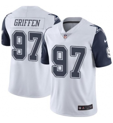 Nike Dallas Cowboys 97 Everson Griffen White Men Stitched NFL Limited Rush Jersey