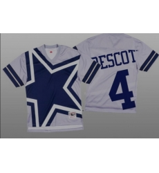 Women Dallas Cowboys Dak Prescott White Big Face Fashion Limited Jersey