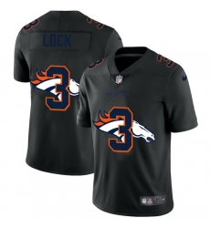 Denver Broncos 3 Drew Lock Men Nike Team Logo Dual Overlap Limited NFL Jersey Black