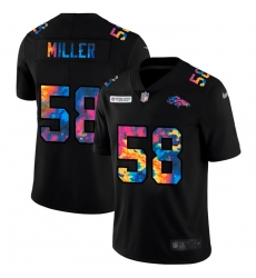 Denver Broncos 58 Von Miller Men Nike Multi Color Black 2020 NFL Crucial Catch Vapor Untouchable Limited Jersey