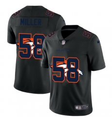 Denver Broncos 58 Von Miller Men Nike Team Logo Dual Overlap Limited NFL Jersey Black