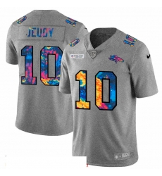 Men Denver Broncos 10 Jerry Jeudy Men Nike Multi Color 2020 NFL Crucial Catch NFL Jersey Greyheather