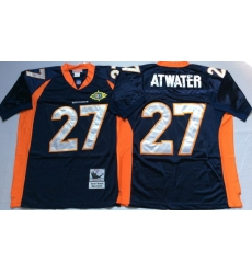 Men Denver Broncos 27 Steve Atwater Navy M&N Throwback Jersey