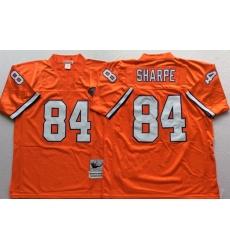 Men Denver Broncos 84 Shannon Sharpe Orange M&N Throwback Jersey