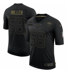 Men's Denver Broncos #58 Von Miller Black Nike 2020 Salute To Service Limited Jersey