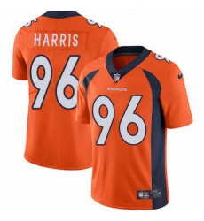 Nike Broncos 96 Shelby Harris Orange Team Color Men Stitched NFL Vapor Untouchable Limited Jersey