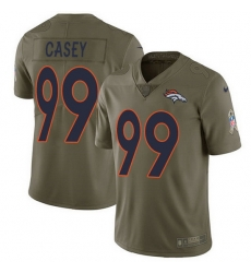 Nike Broncos 99 Jurrell Casey Olive Men Stitched NFL Limited 2017 Salute To Service Jersey