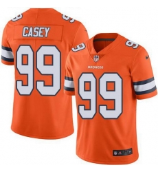 Nike Broncos 99 Jurrell Casey Orange Men Stitched NFL Limited Rush Jersey