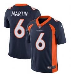 Nike Denver Broncos 6 Sam Martin Navy Blue Alternate Men Stitched NFL Vapor Untouchable Limited Jersey