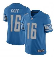 Men Detroit Lions 16 Jared Goff Blue Team Color Men Stitched NFL Vapor Untouchable Limited Jersey