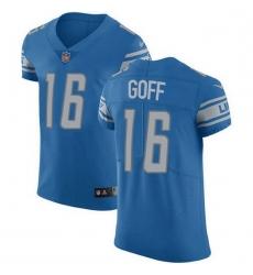 Men Detroit Lions 16 Jared Goff Blue Throwback Men Stitched NFL Vapor Untouchable Elite Jersey