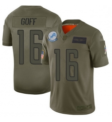 Men Detroit Lions 16 Jared Goff Camo Men Stitched NFL Limited 2019 Salute To Service Jersey