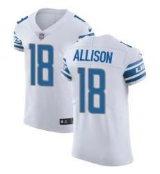 Nike Detroit Lions 18 Geronimo Allison White Men Stitched NFL New Elite Jersey