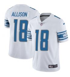 Nike Detroit Lions 18 Geronimo Allison White Men Stitched NFL Vapor Untouchable Limited Jersey