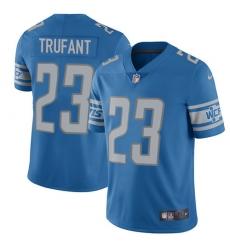Nike Detroit Lions 23 Desmond Trufant Blue Team Color Men Stitched NFL Vapor Untouchable Limited Jersey