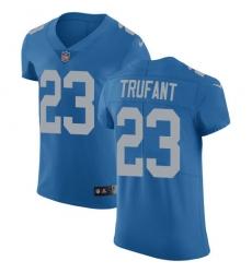 Nike Detroit Lions 23 Desmond Trufant Blue Throwback Men Stitched NFL Vapor Untouchable Elite Jersey