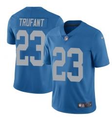 Nike Detroit Lions 23 Desmond Trufant Blue Throwback Men Stitched NFL Vapor Untouchable Limited Jersey