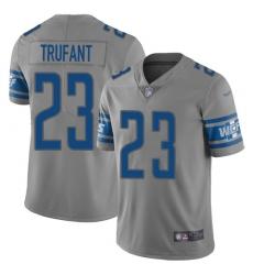 Nike Detroit Lions 23 Desmond Trufant Gray Men Stitched NFL Limited Inverted Legend Jersey