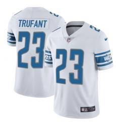 Nike Detroit Lions 23 Desmond Trufant White Men Stitched NFL Vapor Untouchable Limited Jersey