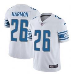 Nike Detroit Lions 26 Duron Harmon White Men Stitched NFL Vapor Untouchable Limited Jersey