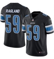Nike Detroit Lions 59 Reggie Ragland Black Men Stitched NFL Limited Rush Jersey