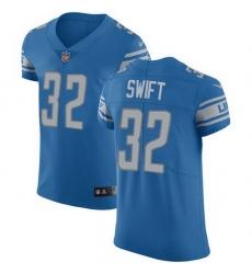 Nike Lions 32 D 27Andre Swift Blue Team Color Men Stitched NFL Vapor Untouchable Elite Jersey