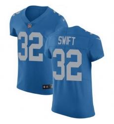 Nike Lions 32 D 27Andre Swift Blue Throwback Men Stitched NFL Vapor Untouchable Elite Jersey