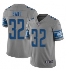 Nike Lions 32 D 27Andre Swift Gray Men Stitched NFL Limited Inverted Legend Jersey