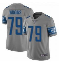 Nike Lions 79 Kenny Wiggins Gray Men Stitched NFL Limited Inverted Legend Jersey