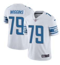 Nike Lions 79 Kenny Wiggins White Men Stitched NFL Vapor Untouchable Limited Jersey