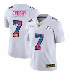 Green Bay Green Bay Green Bay Green Bay Packers 7 Mason Crosby Men White Nike Multi Color 2020 NFL Crucial Catch Limited NFL Jersey