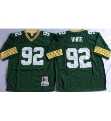 Men Green Bay Green Bay Packers 92 Reggie Green M&N Throwback Jersey