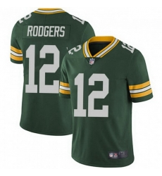 Men Nike Green Bay Packers 12 Aaron Rodgers Green Vapor Limited Jersey