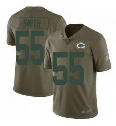 Men Nike Green Bay Packers 55 Za'Darius Smith 2017 Salute to Service Jersey