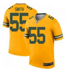 Men Nike Green Bay Packers 55 Za'Darius Smith Legend Gold Limited Jersey