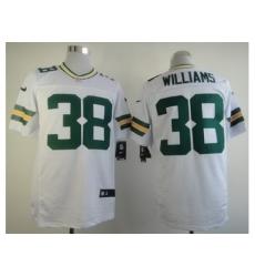 Nike Green Bay Packers 38 Tramon Williams White Elite NFL Jersey