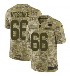 Nike Packers #66 Ray Nitschke Camo Mens Stitched NFL Limited 2018 Salute To Service Jersey