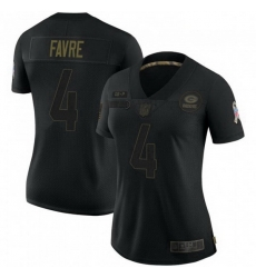 Women Nike Green Bay Packers 4 Brett Favre 2020 Black Vapor Limited Jersey