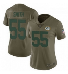 Women Nike Green Bay Packers 55 Za'Darius Smith 2017 Salute To Service Limited Jersey